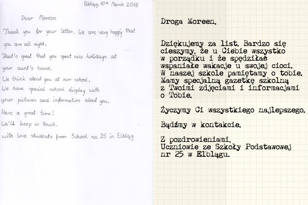 Nasz list do Moreen