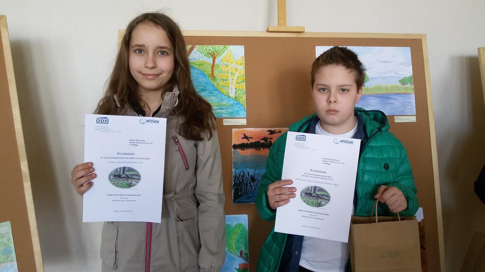 Nagrody w konkursach