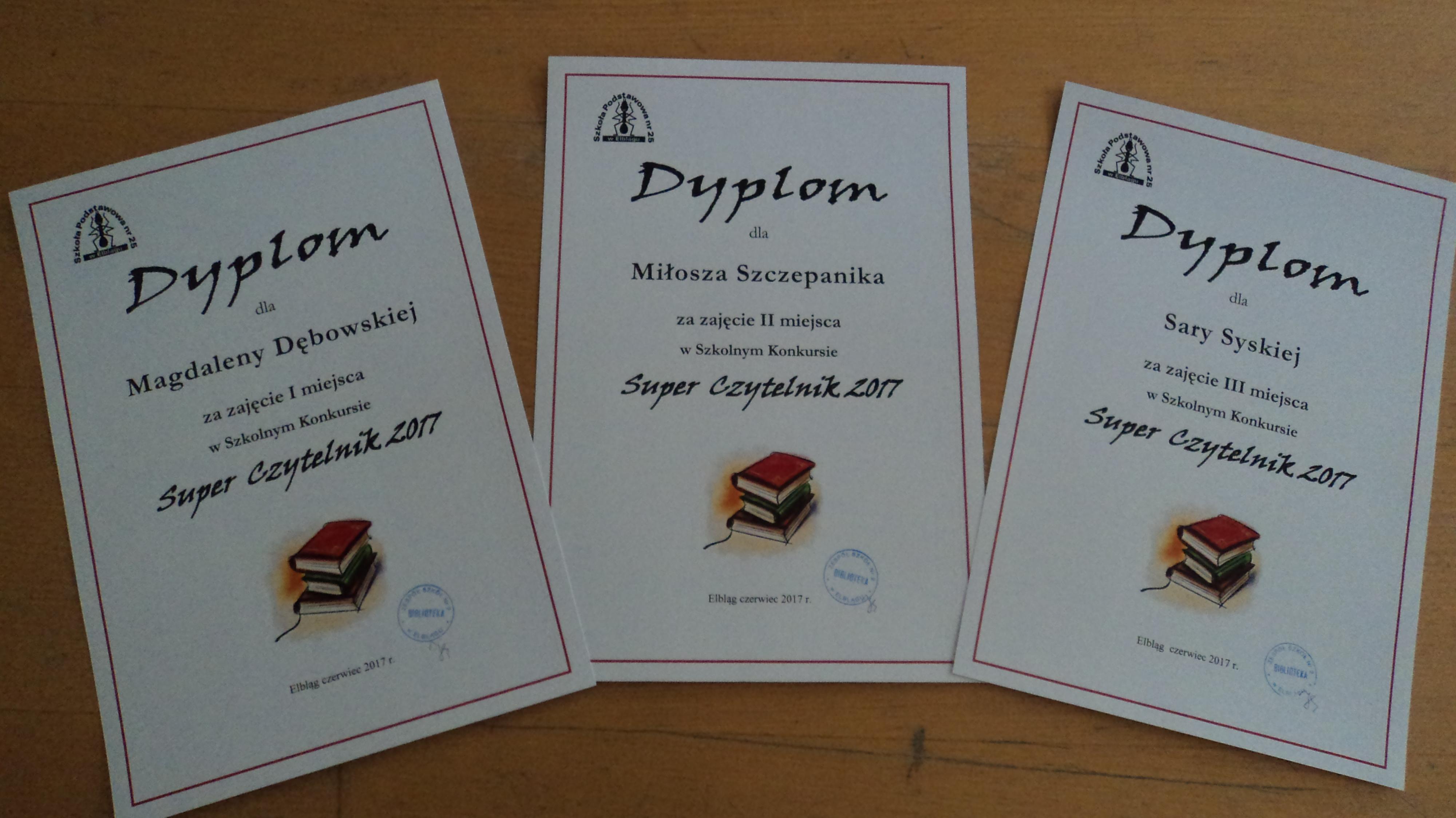 SUPER CZYTELNIK- wyniki konkursu