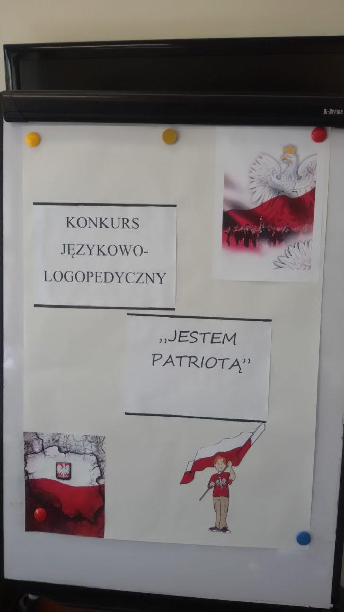 """Międzyszkolny Konkurs Językowo-Logopedyczny pt.: """"Jestem patriotą """""""