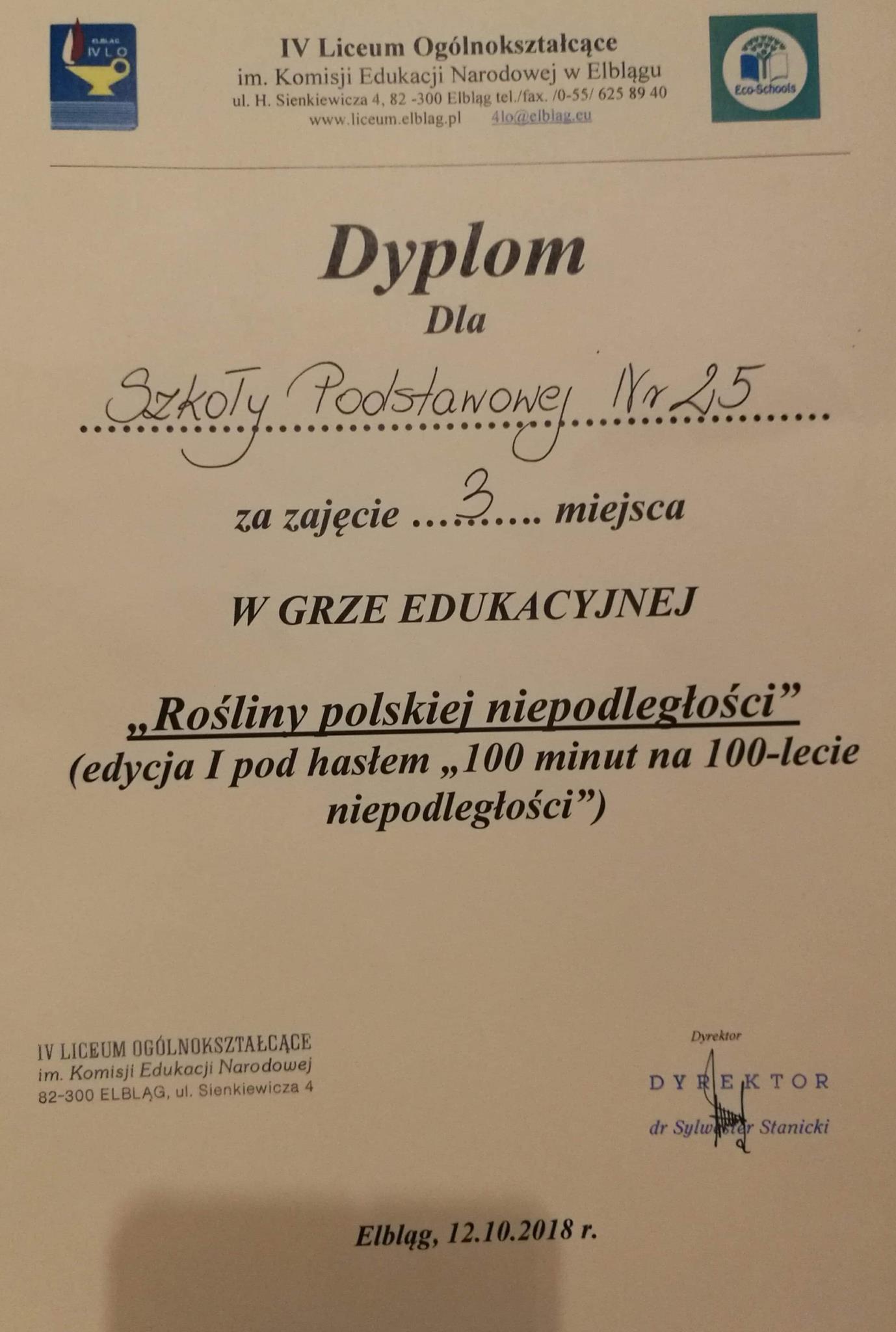 """""""Rośliny polskiej niepodległości"""""""
